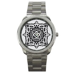 Celtic Draw Drawing Hand Draw Sport Metal Watch