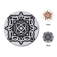 Celtic Draw Drawing Hand Draw Playing Cards (Round)