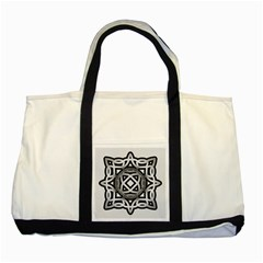 Celtic Draw Drawing Hand Draw Two Tone Tote Bag