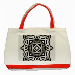 Celtic Draw Drawing Hand Draw Classic Tote Bag (Red)
