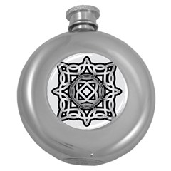 Celtic Draw Drawing Hand Draw Round Hip Flask (5 oz)