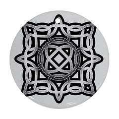 Celtic Draw Drawing Hand Draw Round Ornament (Two Sides)