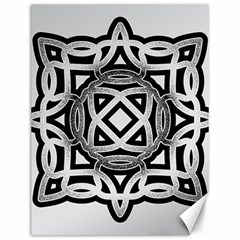 Celtic Draw Drawing Hand Draw Canvas 12  x 16