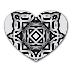 Celtic Draw Drawing Hand Draw Heart Mousepads