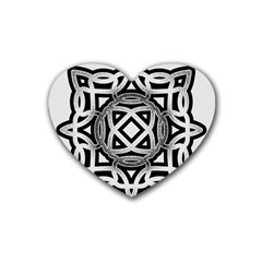 Celtic Draw Drawing Hand Draw Rubber Coaster (Heart)