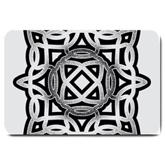 Celtic Draw Drawing Hand Draw Large Doormat