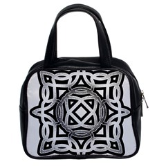 Celtic Draw Drawing Hand Draw Classic Handbags (2 Sides)