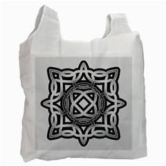 Celtic Draw Drawing Hand Draw Recycle Bag (Two Side)