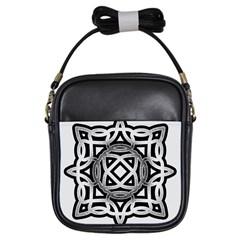 Celtic Draw Drawing Hand Draw Girls Sling Bags