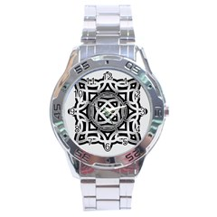 Celtic Draw Drawing Hand Draw Stainless Steel Analogue Watch