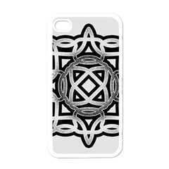 Celtic Draw Drawing Hand Draw Apple iPhone 4 Case (White)