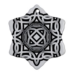Celtic Draw Drawing Hand Draw Snowflake Ornament (Two Sides)