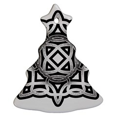 Celtic Draw Drawing Hand Draw Christmas Tree Ornament (Two Sides)