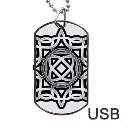 Celtic Draw Drawing Hand Draw Dog Tag Usb Flash (one Side)