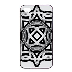Celtic Draw Drawing Hand Draw Apple iPhone 4/4s Seamless Case (Black)
