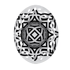Celtic Draw Drawing Hand Draw Oval Filigree Ornament (Two Sides)