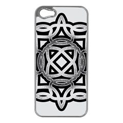 Celtic Draw Drawing Hand Draw Apple iPhone 5 Case (Silver)