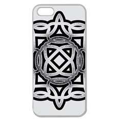 Celtic Draw Drawing Hand Draw Apple Seamless iPhone 5 Case (Clear)