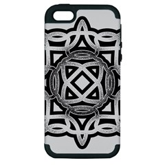 Celtic Draw Drawing Hand Draw Apple Iphone 5 Hardshell Case (pc+silicone)