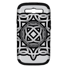 Celtic Draw Drawing Hand Draw Samsung Galaxy S III Hardshell Case (PC+Silicone)