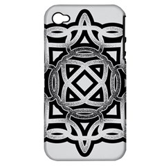 Celtic Draw Drawing Hand Draw Apple Iphone 4/4s Hardshell Case (pc+silicone)