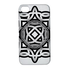 Celtic Draw Drawing Hand Draw Apple Iphone 4/4s Hardshell Case With Stand