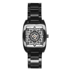 Celtic Draw Drawing Hand Draw Stainless Steel Barrel Watch