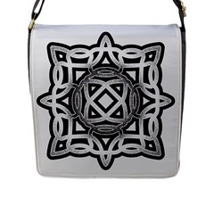 Celtic Draw Drawing Hand Draw Flap Messenger Bag (l)