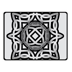 Celtic Draw Drawing Hand Draw Double Sided Fleece Blanket (Small)