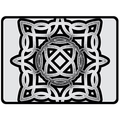 Celtic Draw Drawing Hand Draw Double Sided Fleece Blanket (large)