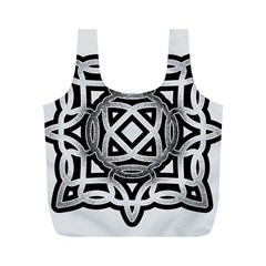 Celtic Draw Drawing Hand Draw Full Print Recycle Bags (m)