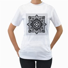 Celtic Draw Drawing Hand Draw Women s T Shirt (white)