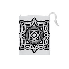 Celtic Draw Drawing Hand Draw Drawstring Pouches (Small)