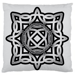 Celtic Draw Drawing Hand Draw Large Flano Cushion Case (Two Sides)
