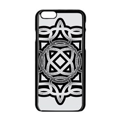 Celtic Draw Drawing Hand Draw Apple iPhone 6/6S Black Enamel Case