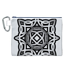 Celtic Draw Drawing Hand Draw Canvas Cosmetic Bag (L)
