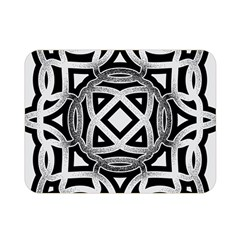 Celtic Draw Drawing Hand Draw Double Sided Flano Blanket (Mini)
