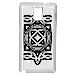 Celtic Draw Drawing Hand Draw Samsung Galaxy Note 4 Case (white)