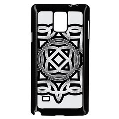 Celtic Draw Drawing Hand Draw Samsung Galaxy Note 4 Case (black)