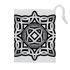 Celtic Draw Drawing Hand Draw Drawstring Pouches (Extra Large)