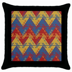 Aztec Traditional Ethnic Pattern Throw Pillow Case (black)