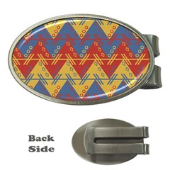 Aztec traditional ethnic pattern Money Clips (Oval)