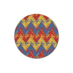 Aztec Traditional Ethnic Pattern Magnet 3  (round)