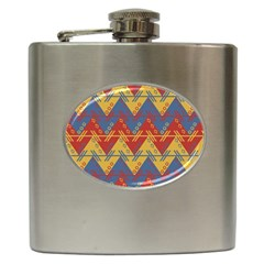 Aztec traditional ethnic pattern Hip Flask (6 oz)