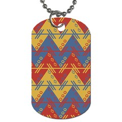 Aztec traditional ethnic pattern Dog Tag (Two Sides)