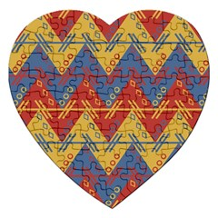 Aztec Traditional Ethnic Pattern Jigsaw Puzzle (heart)