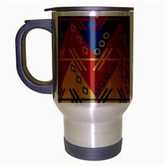 Aztec traditional ethnic pattern Travel Mug (Silver Gray)