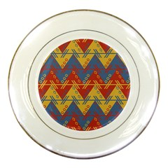 Aztec Traditional Ethnic Pattern Porcelain Plates