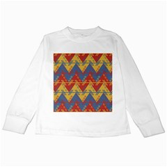 Aztec Traditional Ethnic Pattern Kids Long Sleeve T Shirts