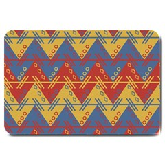 Aztec Traditional Ethnic Pattern Large Doormat